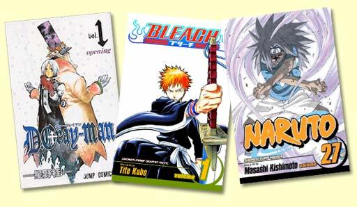 Naruto, Bleach, D.Gray-man Manga and more!