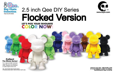 2.5inch Qee DIY Series Flocked Version