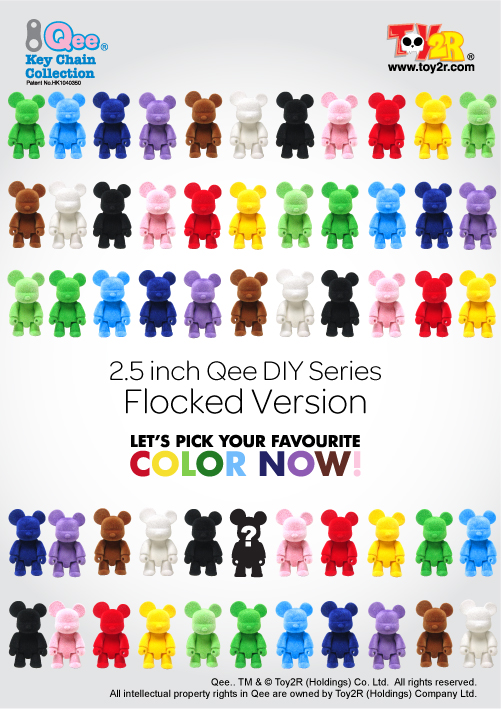 2.5 inch Qee Flocked Version Poster