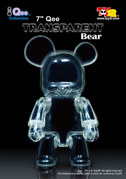 "7"" Qee Transparent Bear"