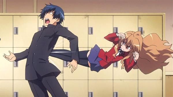 Toradora Taiga Kicks Ryuuji r anime's best anime character bracket! round 4 bracket f! anime